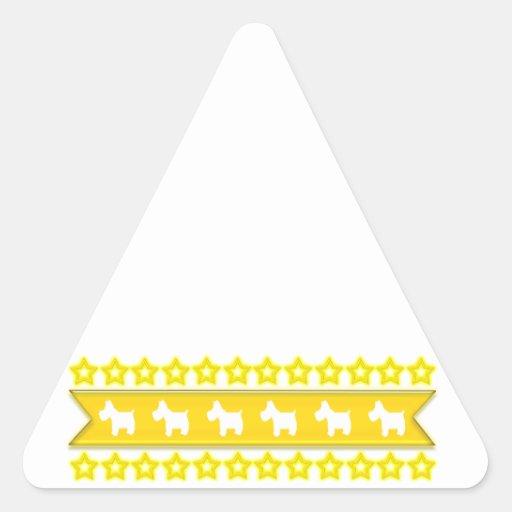 Westies and Stars Triangle Sticker