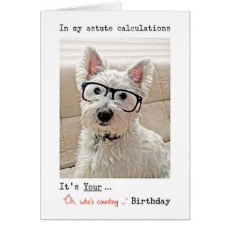 Westie's Calculations, Oh, Who's Counting How Many Card