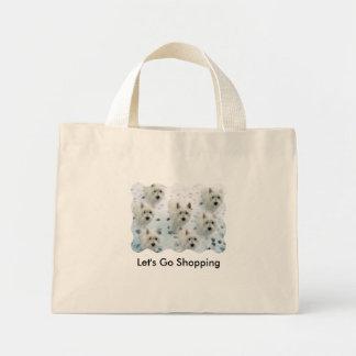"Westies ""Let's Go Shopping"" fun Bag"