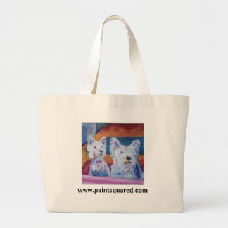 Westies:  They're Home!  Doggy Tote Bag