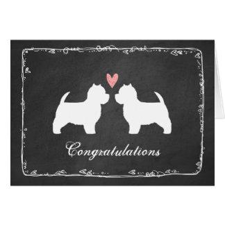Westies Wedding Congratulations Card