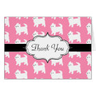 Westies West Highland Terrier Pattern Pink Card