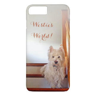 Westie's World! Westie on Vintage Stairs iPhone 8 Plus/7 Plus Case