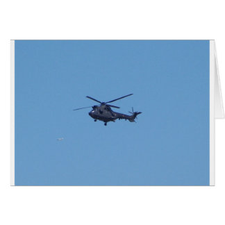 Westland Puma Military Helicopter Greeting Cards