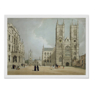 Westminster Abbey and Hospital, from 'London As It Poster