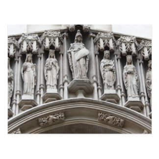 westminster abbey architecture britain building postcard