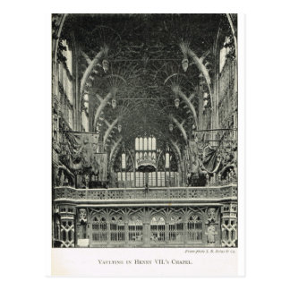 Westminster Abbey, Vaulting, Henry VII's Chapel Postcard