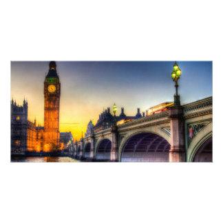 Westminster Bridge and Big Ben Customized Photo Card