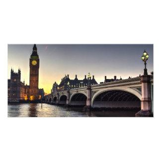 Westminster Bridge and Big Ben Custom Photo Card
