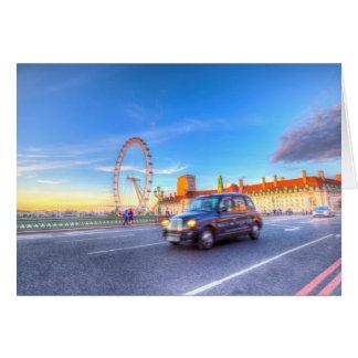 Westminster Bridge And The London Eye Card