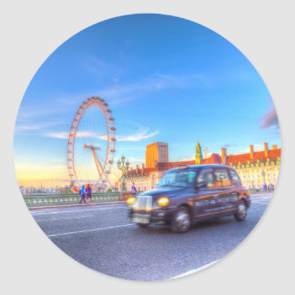 Westminster Bridge And The London Eye Classic Round Sticker