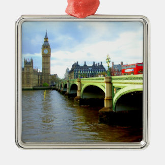 Westminster Bridge, London UK Metal Ornament