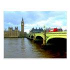 Westminster Bridge, London UK Postcard