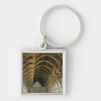 Westminster Hall, engraved by J. Bluck  pub Silver-Colored Square Keychain