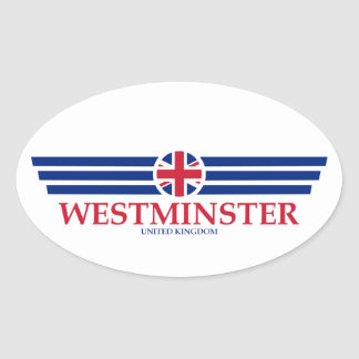 WESTMINSTER OVAL STICKER