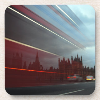 Westminster Palace London England with Red Bus Coasters