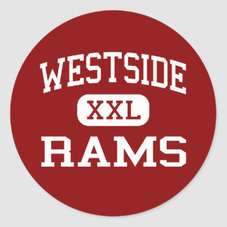 Westside - Rams - High - Anderson South Carolina Classic Round Sticker