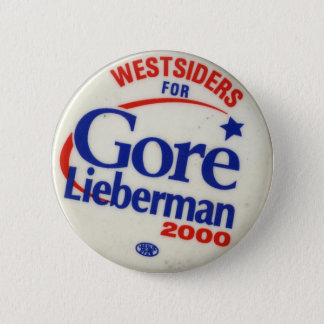 Westsiders for Gore-Lieberman 2 Inch Round Button
