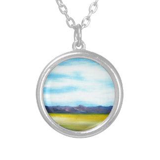 WestTexasLandscape Silver Plated Necklace