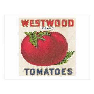 Westwood Tomatoes Vintage Label Postcard