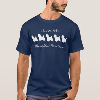 westycutout, West Highland White Terriers, I Lo... T-Shirt