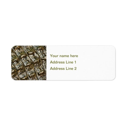 Wet Alligator Back Abstract Photograph Return Address Label