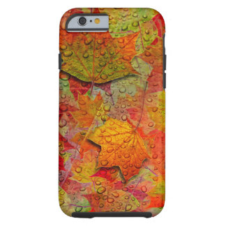 Wet Autumn Leaves Tough iPhone 6 Case