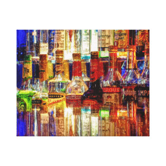 Wet Bar Abstract Canvas Print