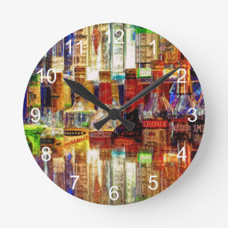 Wet Bar Abstract Clock
