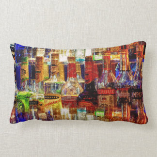 Wet Bar Abstract Lumbar Pillow
