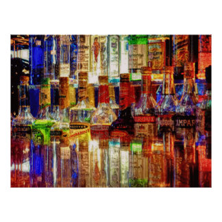 Wet Bar Abstract Poster