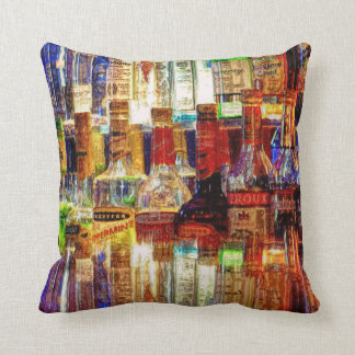 Wet Bar Abstract Square Throw Pillow