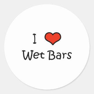 Wet Bars Round Stickers