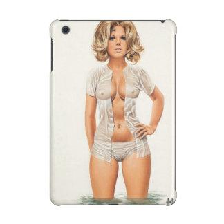 Wet clothes vintage pinup girl iPad mini retina cover