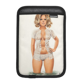 Wet clothes vintage pinup girl iPad mini sleeve