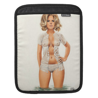 Wet clothes vintage pinup girl sleeves for iPads