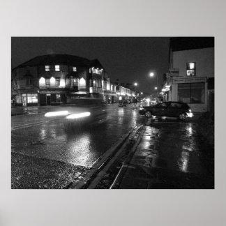 Wet Evening, Salisbury Road Cardiff (3) Poster