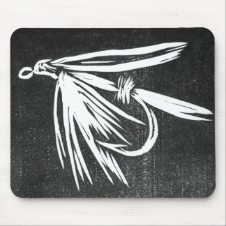 """Wet Fly - Black"" Classic Trout Fly Mousepad"