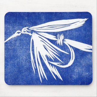"""Wet Fly - Blue"" Classic Trout Fly Mousepad"