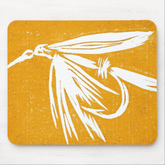 """Wet Fly - Gold"" Classic Trout Fly Mousepad"