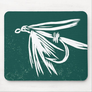 """Wet Fly - Green"" Classic Trout Fly Mousepad"