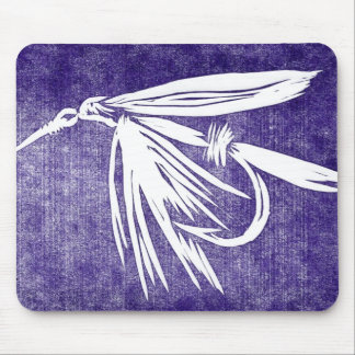 """Wet Fly - Purple"" Classic Trout Fly Mousepad"