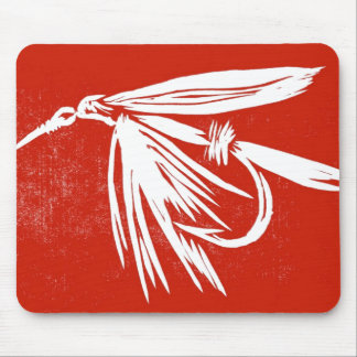 """Wet Fly - Red"" Classic Trout Fly Mousepad"