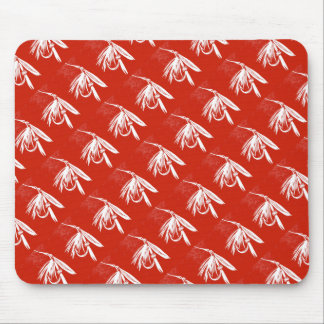 """Wet Fly Red - Tiled"" Classic Trout Fly Mousepad"