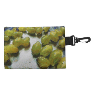 Wet glistening grapes accessories bags