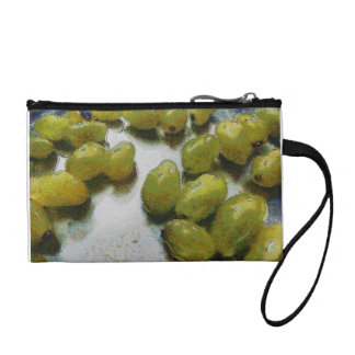 Wet glistening grapes coin purses