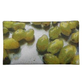 Wet glistening grapes makeup bags