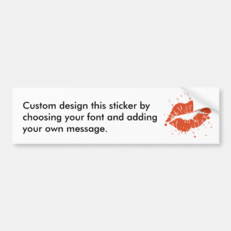 Wet Kisses Bumper Sticker