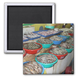 Wet market refrigerator magnet