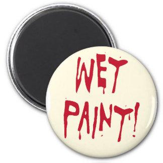 wet paint refrigerator magnet